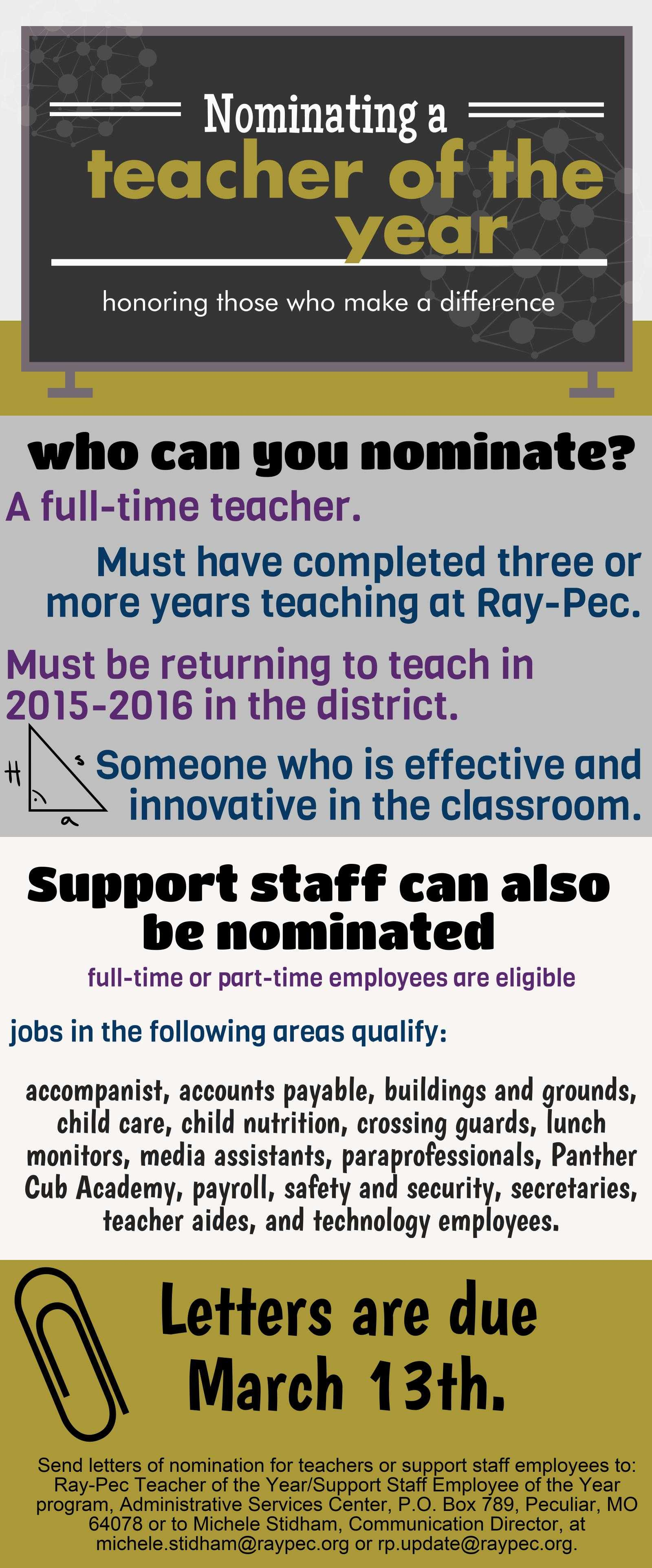 raypecnow   teacher of the year nominations
