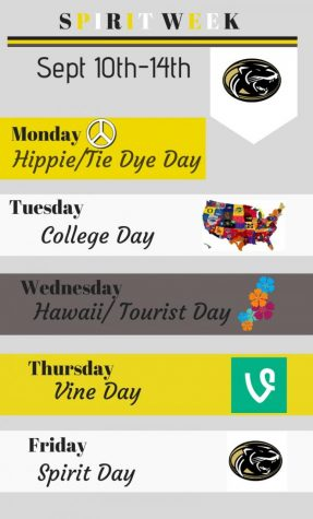 Spirit Week 10th-14th