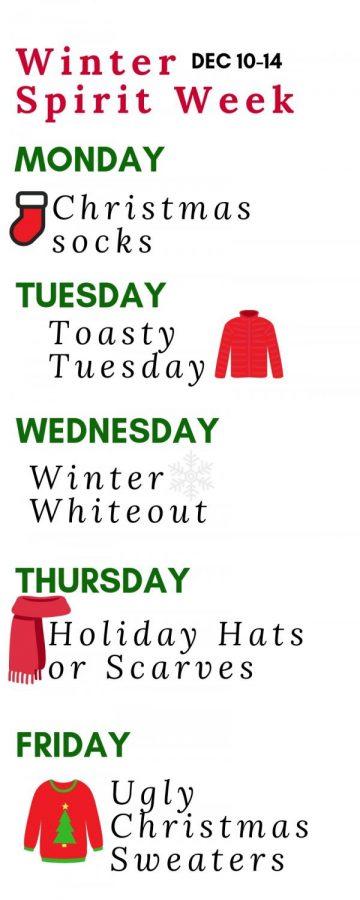 Spirit Week: 12/10-12/14
