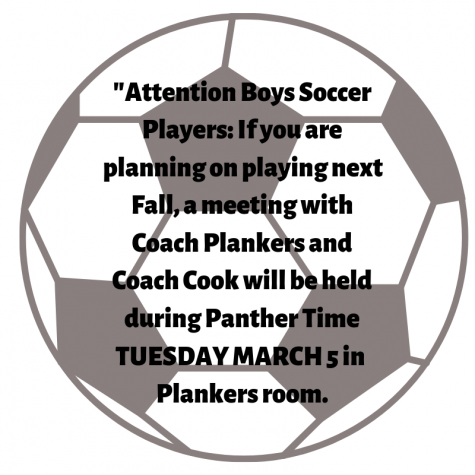 Attention boys soccer players