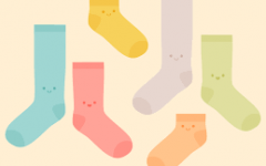 One sock after the other