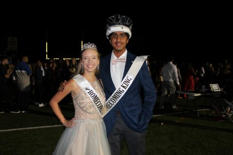 2021 homecoming king Khuram Choudry and homecoming queen Madison Busby.